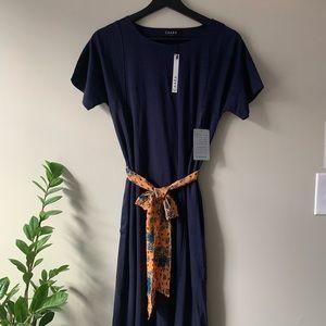 CAARA Short Sleeve Midi Dress Nordstrom NWT / S
